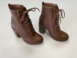 Lace Up  Heeled Combat Style Boot