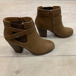Brown Strap Detail Bootie