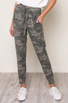 High Waisted Camouflage Joggers