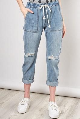Denim Drawstring Jeans