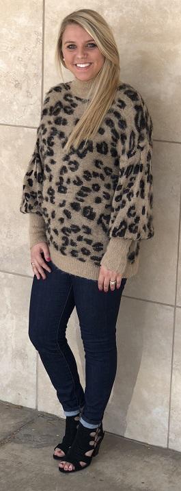 """""""Softly Wild"""" Leopard Fuzzy Sweater"""
