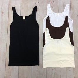 Basic Colors Thick Strap Tank(NS5178)
