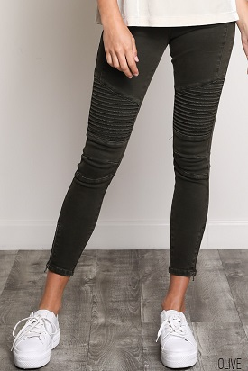 Olive Motto Jeans