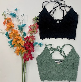 Lace Crop Top With Adjustable Straps