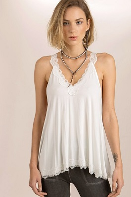 Flowy Lace Detailed Camisole Top