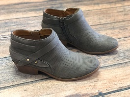 Grey Strap Detail Bootie