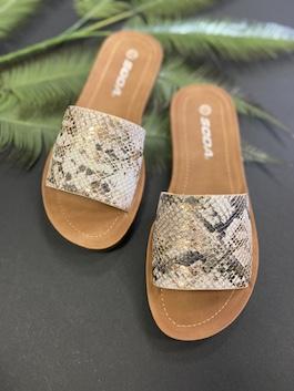 Metallic Python Sandal