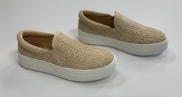 Natural Raffia Flat Sneaker