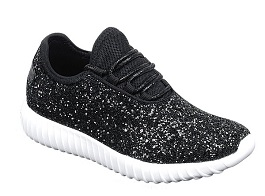 Black Glitter Sneaker