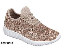 Rose Gold Glitter Sneaker