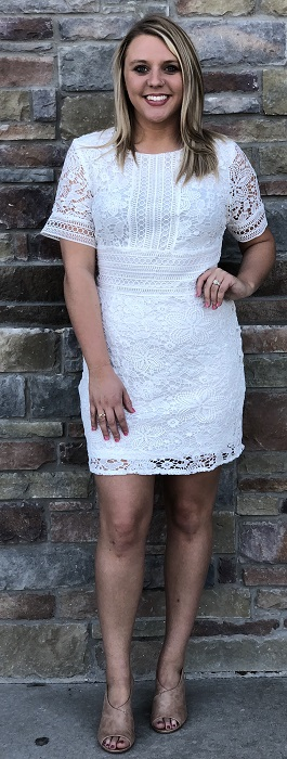 """Wedding Bells"" White Lace Detail Dress"