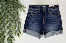 Sneak Peek High Rise Denim Shorts