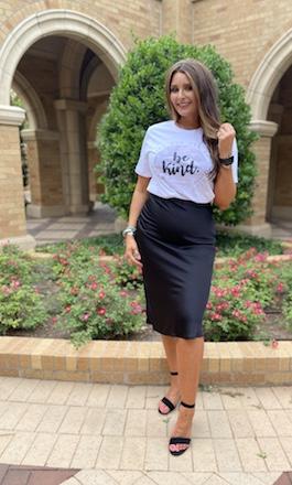 """""""So Classy"""" Black Midi Skirt"""
