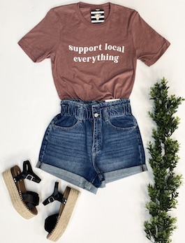 """Support Local Everything"" Graphic T-Shirt"