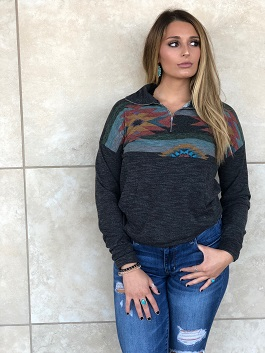 """Take Me To The Mountains"" Aztec Pullover"
