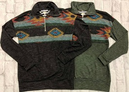 """""""Take Me To The Mountains"""" Aztec Pullover"""