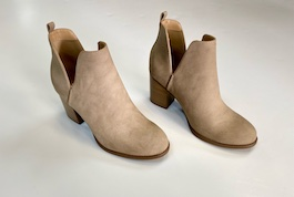 Taupe Heeled Bootie