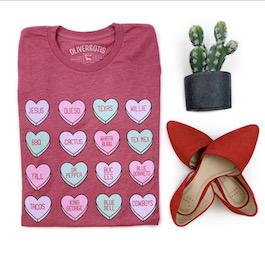 Texas Hearts Graphic T-Shirt