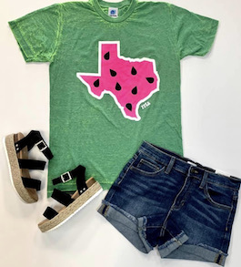 Texas Watermelon Graphic T-Shirt