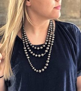 Tiered Vintage Style Navajo Pearl Necklace