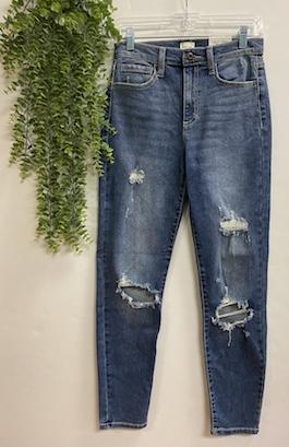 Tomboy High Rise Distressed Jean