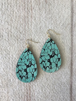 Turquoise Speckle Earrings