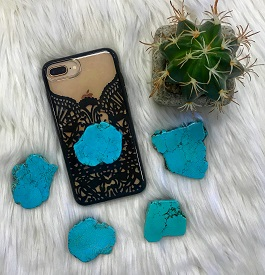 Turquoise Phone Grips