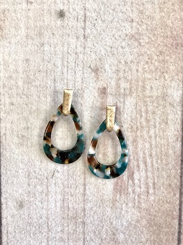 Turquoise Glass With Gold Detail