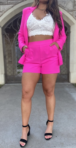Ultra Pink High Waisted Shorts