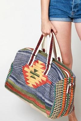 Boho Chic Aztec Overnight Bag