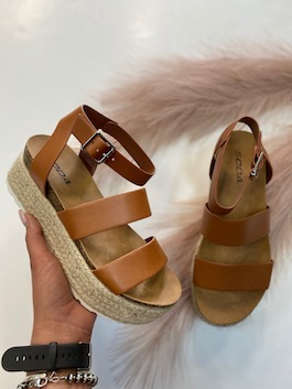 Tan Leather Like Sandal
