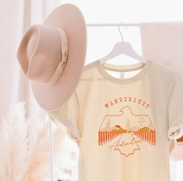 """Wanderlust"" Graphic T-Shirt"