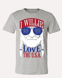 """Willie Love The USA"" Graphic Tee"