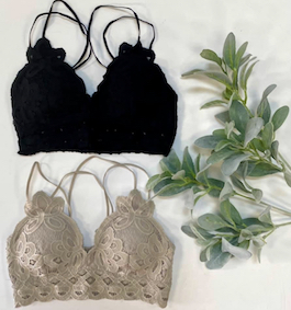 Lace Bralette With Adjustable Straps
