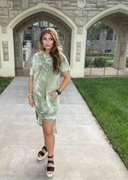 """Vibin'"" Olive Midi Maxi Dress With Pockets"