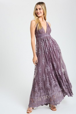 """This Is Love"" Midnight Lace Maxi Dress"