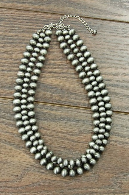 Three Strand Navajo Pearl Necklace