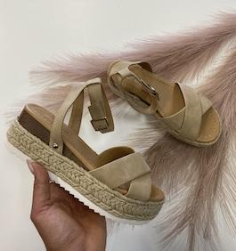 Taupe Espadrille Sandal