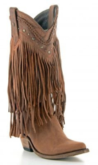 Brown Fringe Boots (LB71124BRW)