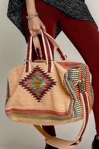 Brown Boho Chic Overnight Bag