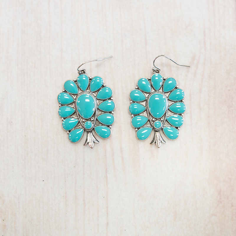 Begay Blossom Turquoise Earring